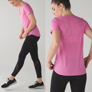 Lululemon What The Sport V-Neck Tee T-Shirt Top 4